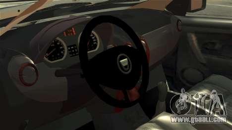 Dacia Logan MCV Stepway 2014 for GTA 4 back view