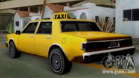 Classic Taxi Los Santos for GTA San Andreas left view