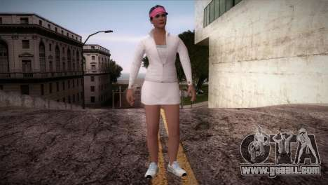 GTA 5 Amanda De Santa Tennis Skin for GTA San Andreas second screenshot