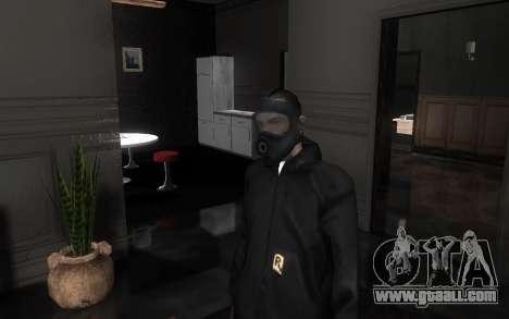 GTA5 Gasmask for GTA San Andreas seventh screenshot