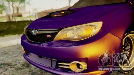 Subaru Impreza WRX STI 2008 for GTA San Andreas right view