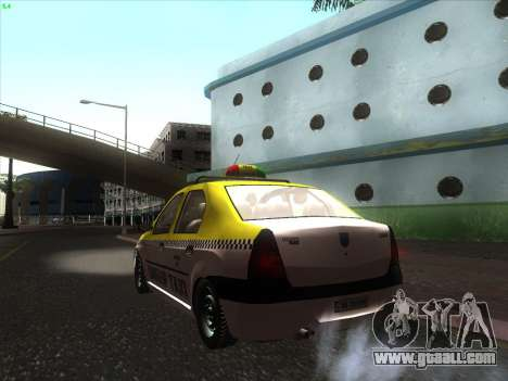Dacia Logan Taxi UNIVIP for GTA San Andreas left view