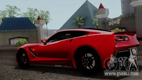 Chevrolet Corvette C7 Stingray 1.0.1 for GTA San Andreas upper view