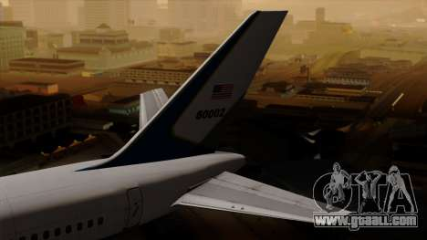 Boeing C-32 Air Force Two for GTA San Andreas back left view
