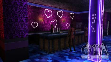 Retextured interior strip clubs for GTA San Andreas second screenshot