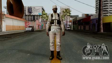 The African American soldier Multicam for GTA San Andreas second screenshot