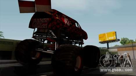 The Seventy Monster v2 for GTA San Andreas back left view