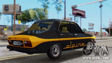 Renault 12 Alpine for GTA San Andreas back left view