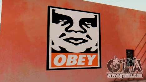 OBEY Graffiti for GTA San Andreas second screenshot