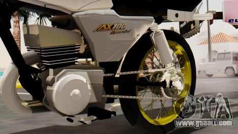 Suzuki AX 100 Stunt for GTA San Andreas right view