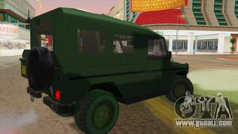 Mercedes-Benz G Wolf Croatian Army for GTA San Andreas left view