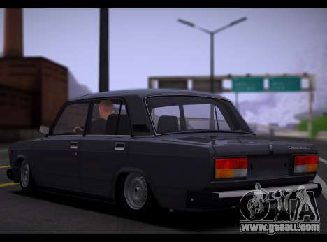 VAZ 2107 Runoff Quality for GTA San Andreas back left view