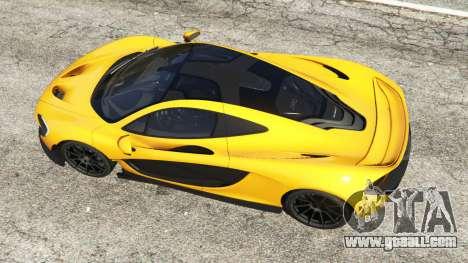 GTA 5 McLaren P1 2014 back view