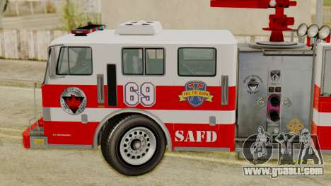 MTL SAFD Firetruck for GTA San Andreas back left view