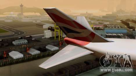 Boeing 747 British for GTA San Andreas back left view