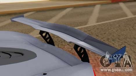 Progen T20 GTR for GTA San Andreas inner view