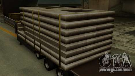Flatbed3 Grey for GTA San Andreas back view
