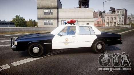 Chevrolet Caprice 1989 LAPD [ELS] for GTA 4 left view