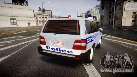 Toyota Land Cruiser 100 2005 Police [ELS] for GTA 4 back left view