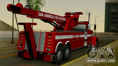 FDSA Heavy Rescue Truck for GTA San Andreas left view