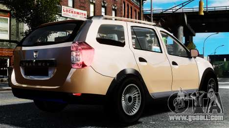 Dacia Logan MCV Stepway 2014 for GTA 4 left view