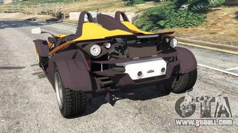 GTA 5 KTM X-Bow [Beta] rear left side view