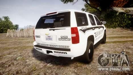 Chevrolet Tahoe 2013 New Alderney Sheriff [ELS] for GTA 4 back left view