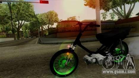 Honda Wave Desarmada Stunt for GTA San Andreas
