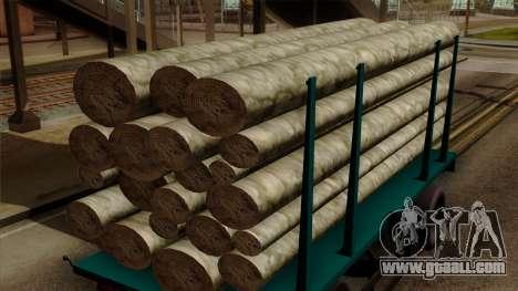 GTA 5 Fieldmaster Wood Trailer for GTA San Andreas right view