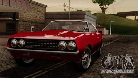 GTA 5 Declasse Vigero IVF for GTA San Andreas inner view