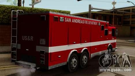 FDSA Urban Search & Rescue Truck for GTA San Andreas left view