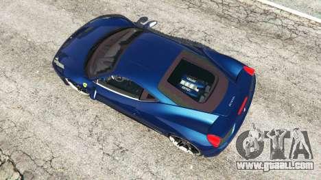 GTA 5 Ferrari 458 Italia v1.0.5 back view