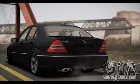 Mercedes-Benz C32 W203 2004 for GTA San Andreas inner view