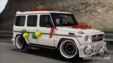 Mercedes Benz G65 Hamann Tuning Wedding Version for GTA San Andreas interior