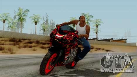 Bati Batik Motorcycle v2 for GTA San Andreas back left view