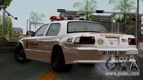 GTA 5 Sheriff Car for GTA San Andreas left view