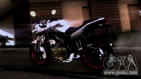 Yamaha Vixion Advance Lominous White for GTA San Andreas left view