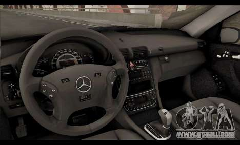 Mercedes-Benz C32 W203 2004 for GTA San Andreas bottom view