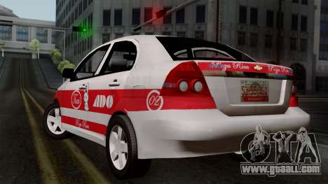 Chevrolet Aveo Taxi Poza Rica for GTA San Andreas left view
