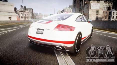 Audi TT RS 2010 Quattro for GTA 4 back left view