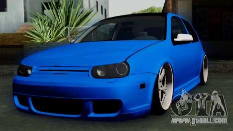 Volkswagen Golf Mk4 Stance for GTA San Andreas