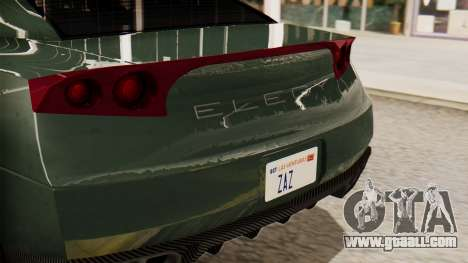 GTA 5 Annis Elegy RH8 SA Style for GTA San Andreas back view