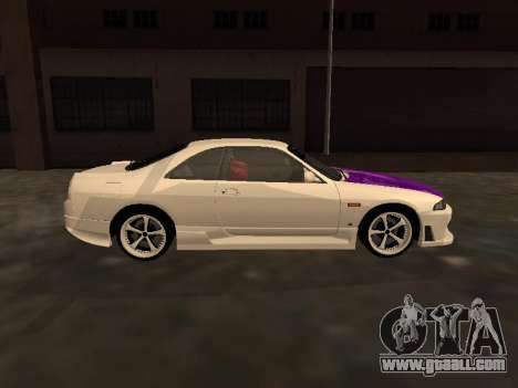 Nissan Skyline R33 Drift Monster Energy JDM for GTA San Andreas inner view