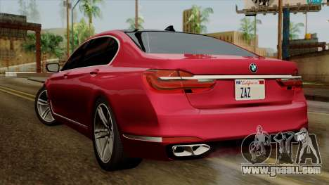 BMW 7 2015 for GTA San Andreas left view