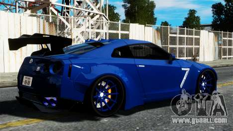 Nissan GT-R R35 Liberty Walk for GTA 4 left view
