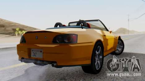 Honda S2000 Fast and Furious for GTA San Andreas left view