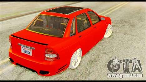 Lada Priora Porsche Customs for GTA San Andreas left view