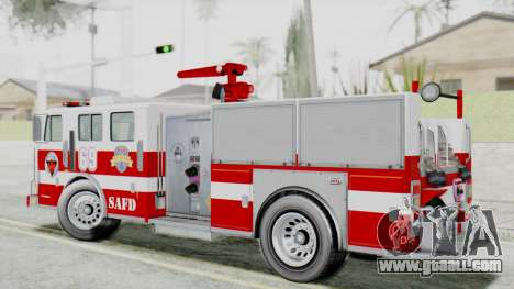 MTL SAFD Firetruck Flat Shadow for GTA San Andreas left view