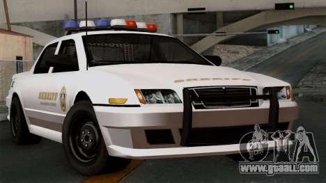 GTA 5 Sheriff Car for GTA San Andreas