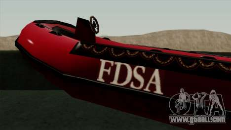 FDSA Dinghy for GTA San Andreas back left view